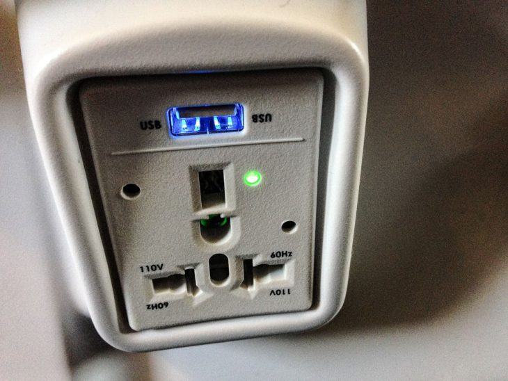 Alaska Airlines Power Outlet