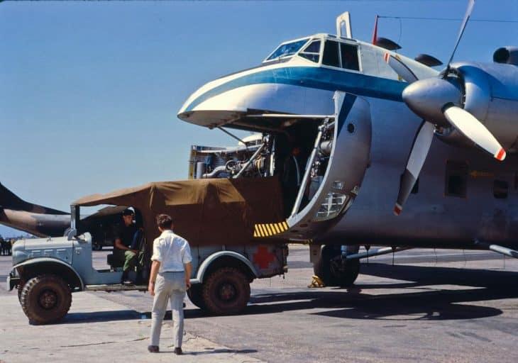 Bristol Freighter unloading 1969