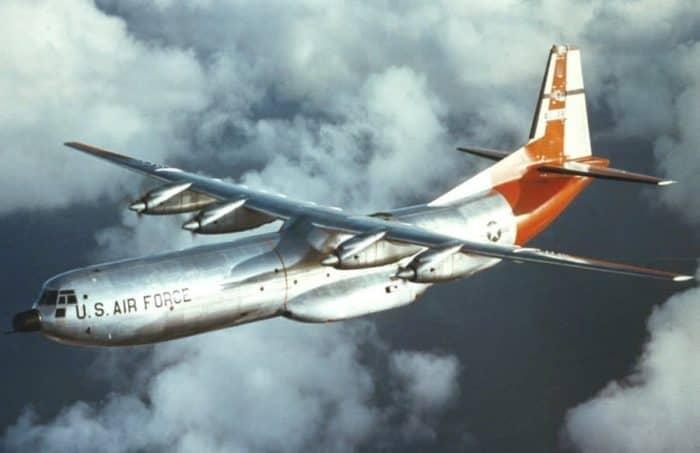 Douglas C-133B Cargomaster in Flight