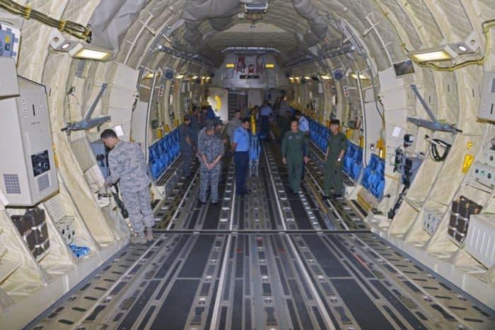 Japanese Kawasaki C-2 - Inside Cargo Compartment