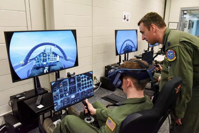 Military Flight Training on Simulator