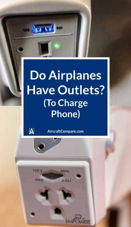 do airplanes have outlets to charge a phone PIN