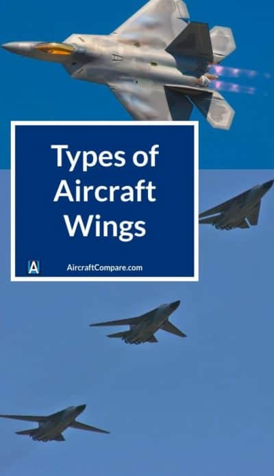 types of aircraft wings PIN 1