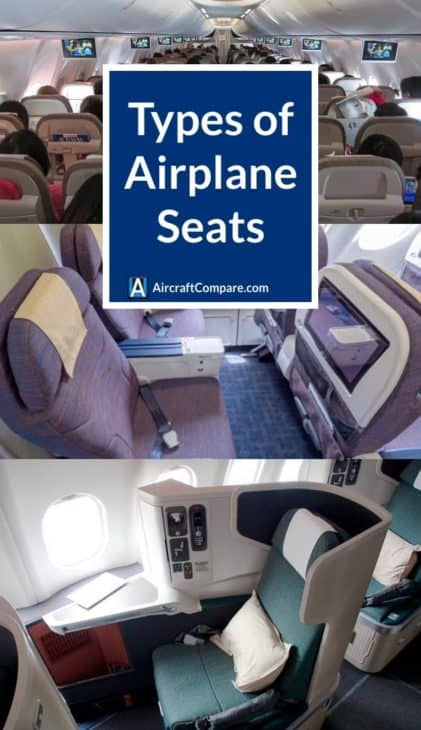 types of airplane seats