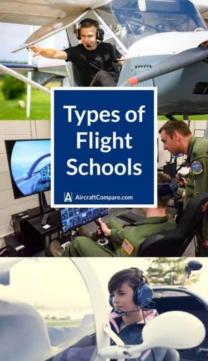 types of flight training schools PIN