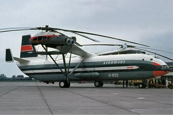 Aeroflot Mil V-12 (Mi-12) at Groningen Airport