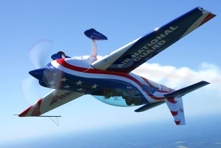 Air National Guard Staudacher S-300 aerobatic demonstration plane