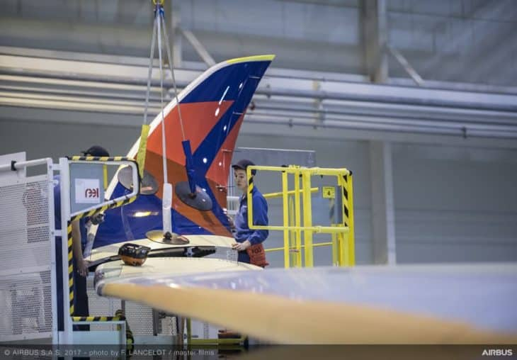 Airbus A350 Winglet Installation