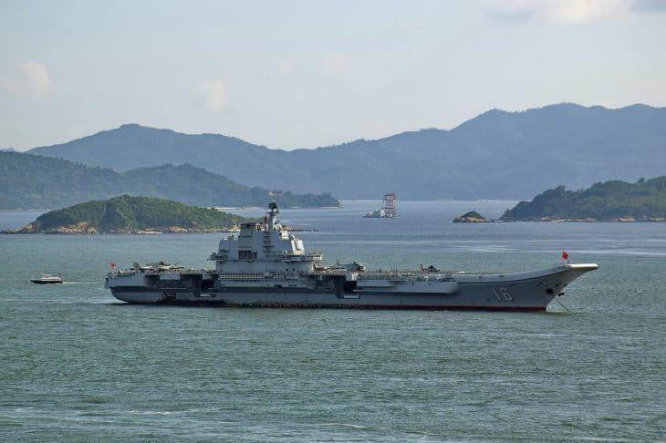 Aircraft Carrier Liaoning in Hong Kong