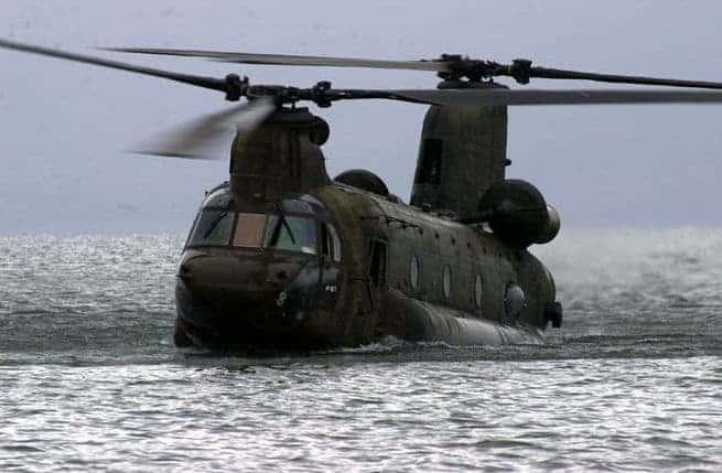 CH-47 Chinook Water Landing