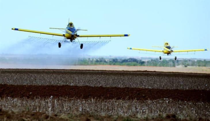 Crop Dusters Flying side by side