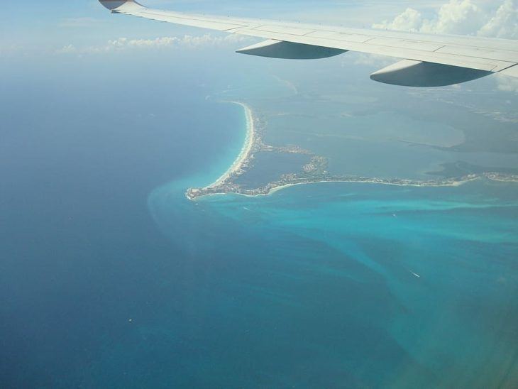 Looking down on Cancun