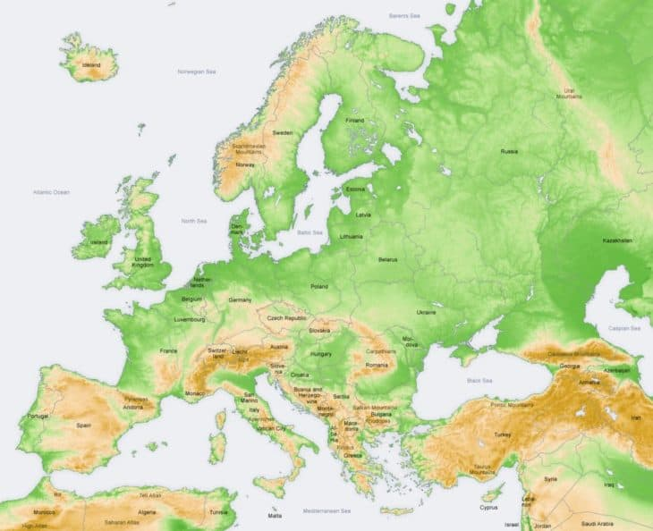 Mountain regions of Europe