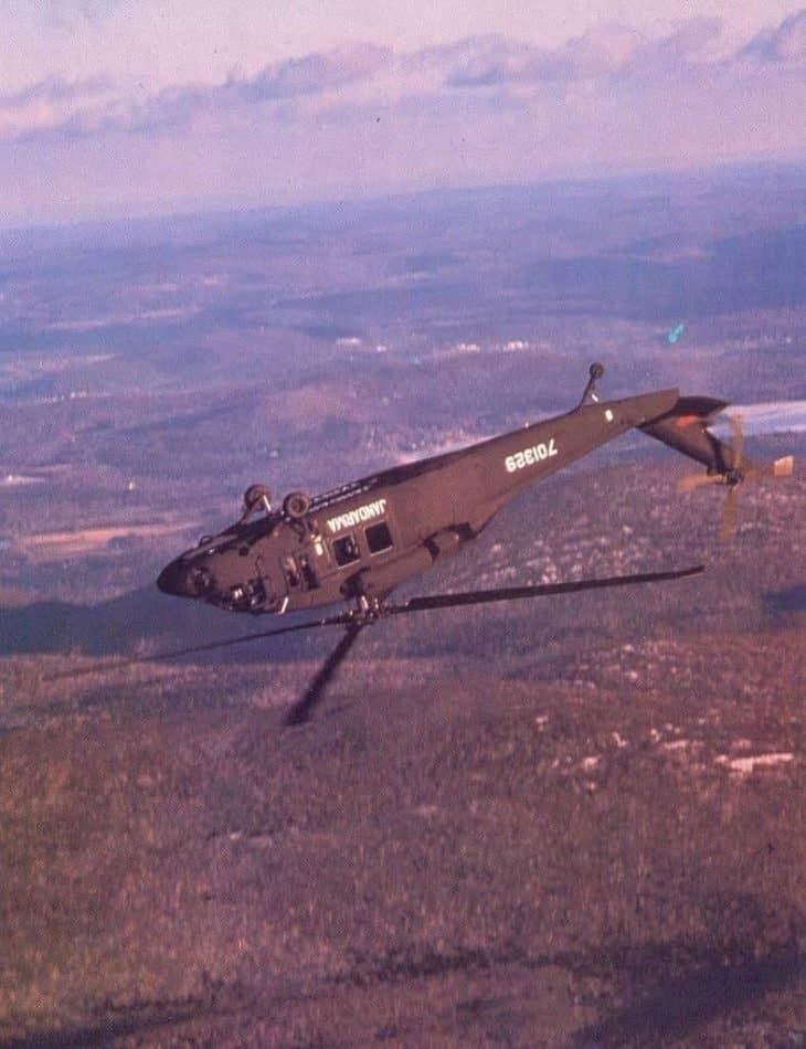 Sikorsky S70 helicopter doing a loop
