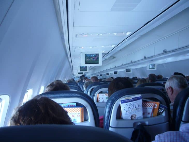 View from economy class seat in regional jet