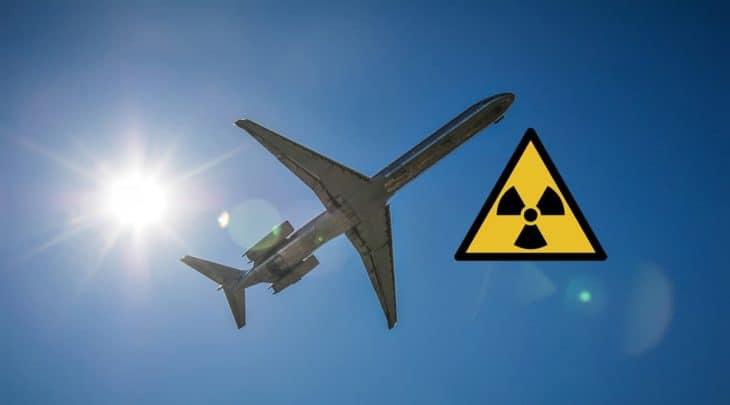 Airplane sun and radiation