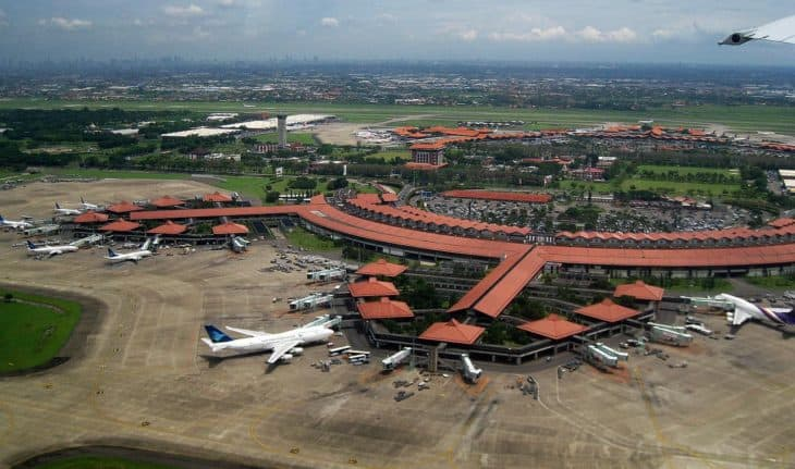 Aerial view of Soekarno Hatta International Airport Jakarta Indonesia