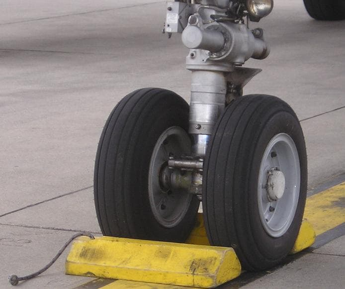 Airplane wheel chocks