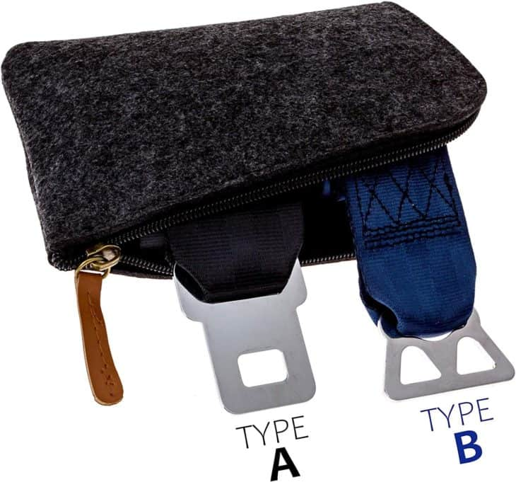 Airplane Seat Belt Extender Types