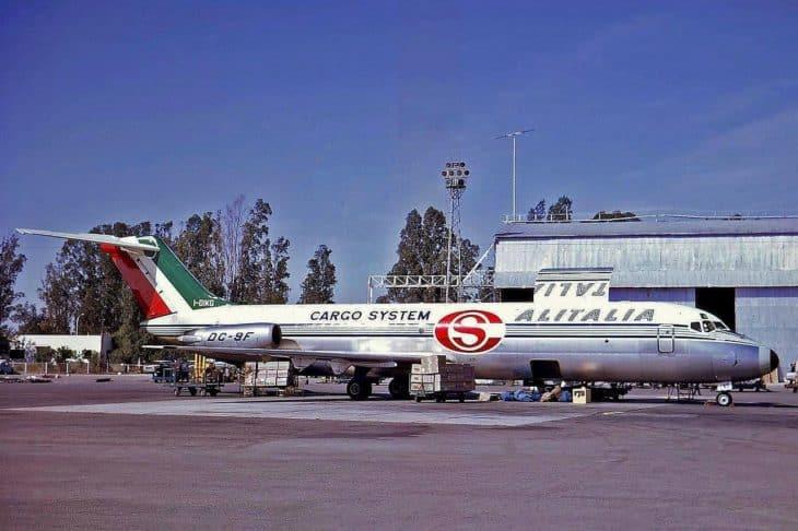 Alitalia Cargo DC 9 32F taken at Tripoli TIP in 1969