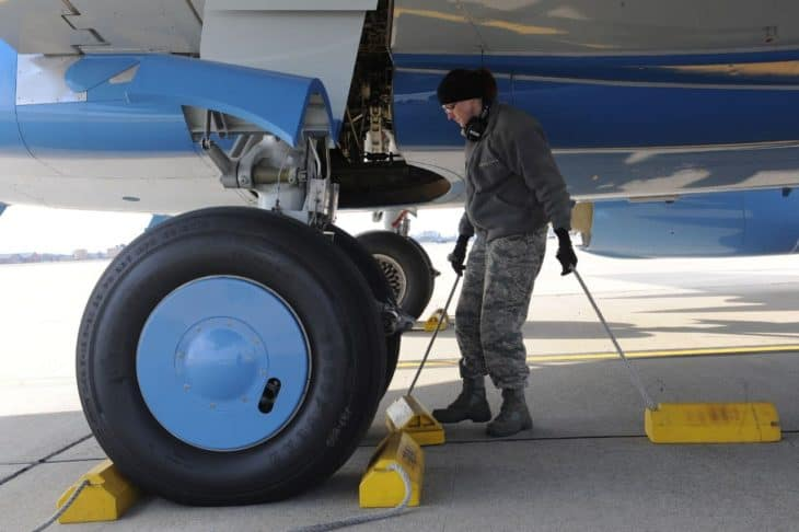 Chocking the Wheels of a C-40