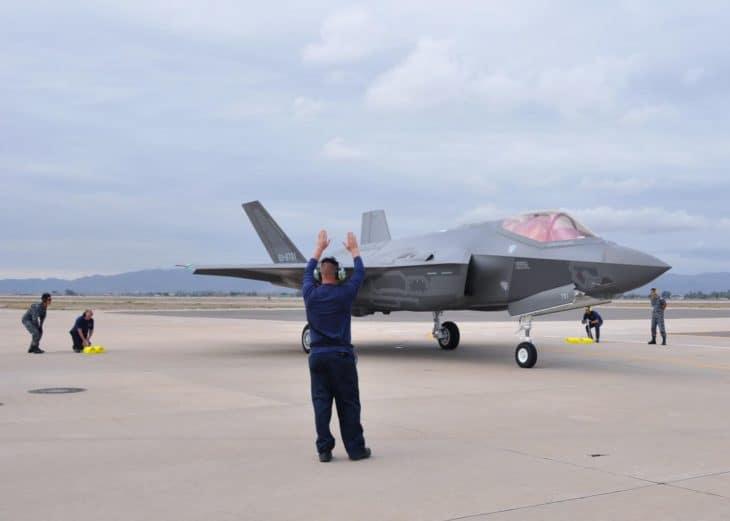 Japanese F 35 at Luke Air Force Base Arizona