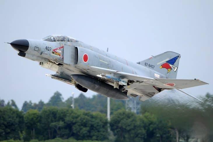 McDonnell Douglas Mitsubishi F 4EJ Kai Phantom II Japan Air Force takeoff