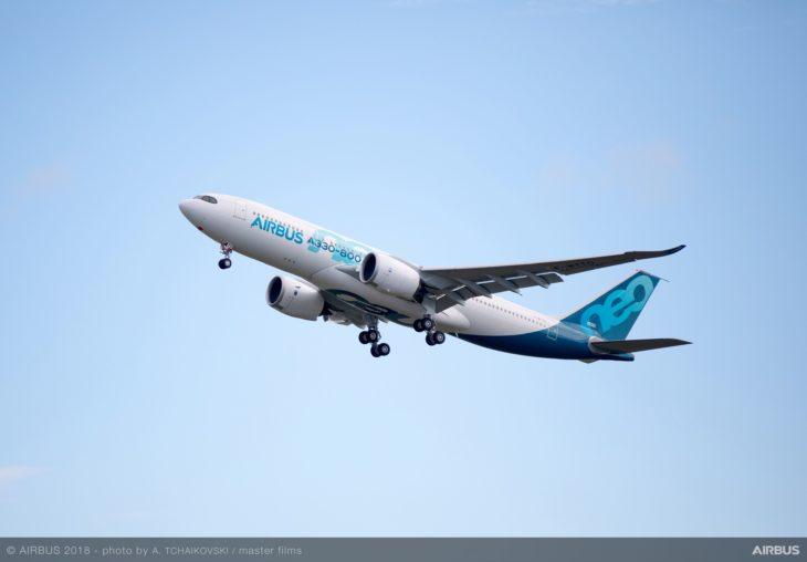 A330 800neo first flight takeoff