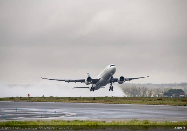 Airbus A330 900neo first flight takeoff