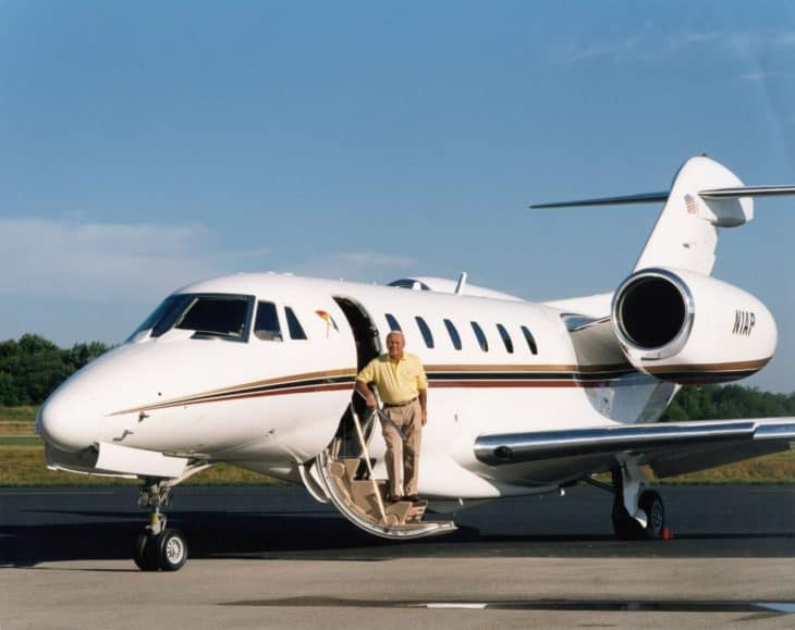 Arnold Palmer with Citation X