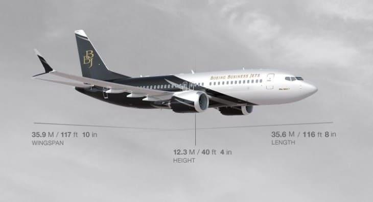 Boeing BBJ MAX 7 dimensions