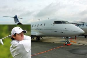 10 Golfers with Private Jets