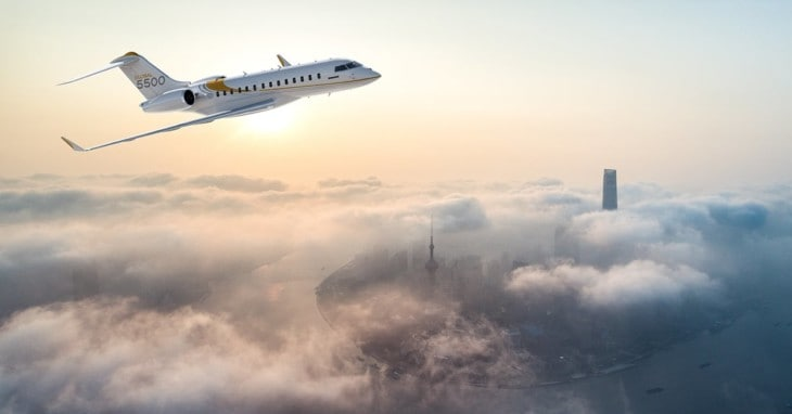 Bombardier Global 5500 clouds