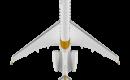 Bombardier Global 5500 top view