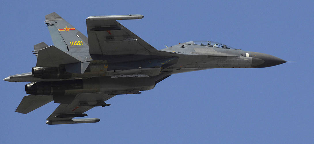 Chinese Su 27J 11 Flanker fighter