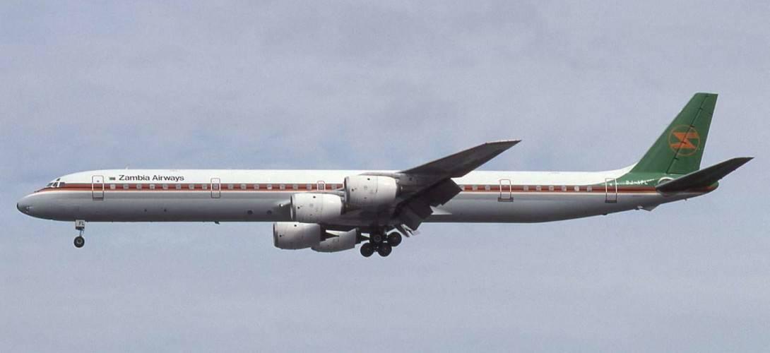 Douglas DC 8 71 Zambia Airways On final approach to Heathrow