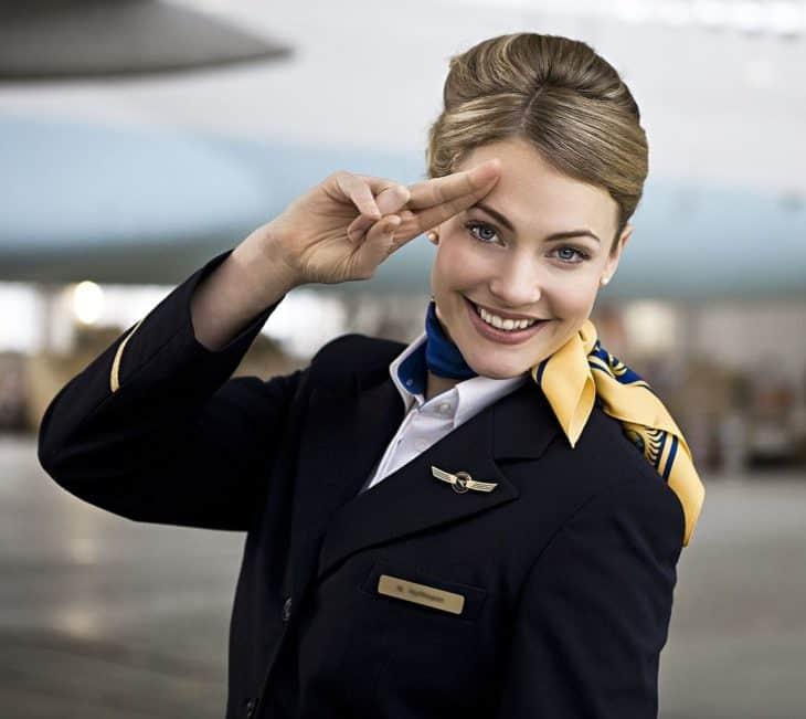 Female Flight Attendant