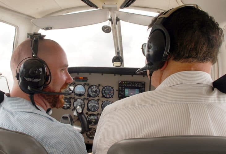 Flight instructor in Piper Warrior III