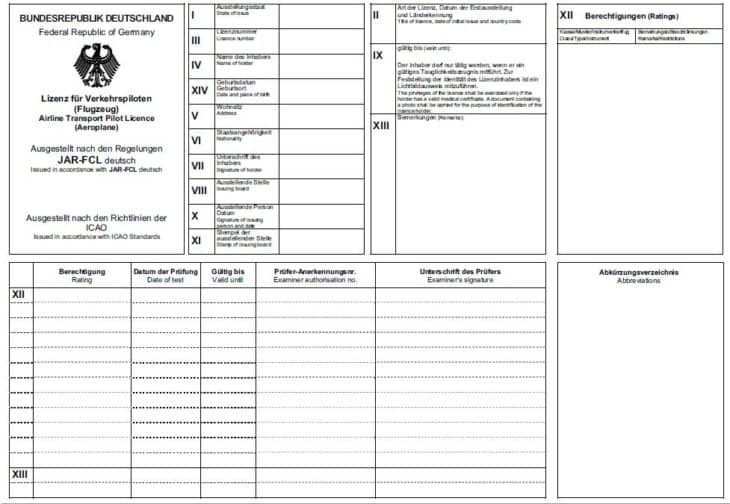 German ATPL License