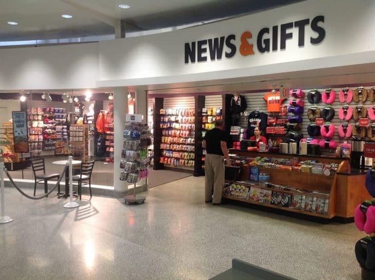 Gift shop at airport
