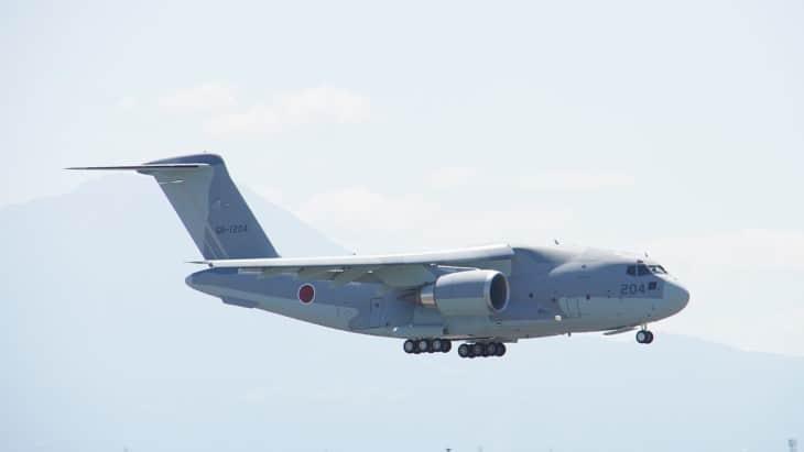 JASDF C 2 68 1204 fly over at Miho Air Base
