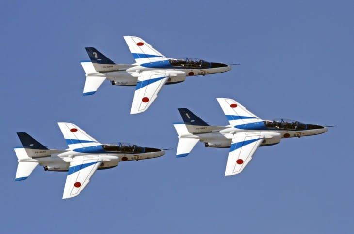Japan Air Self Defense Force Kawasaki T 4 Blue Impulse Demonstration