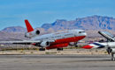 McDonnell Douglas DC 10 30 Air Tanker takeoff in Las Vegas during Aviation Nation 2016 Air Show
