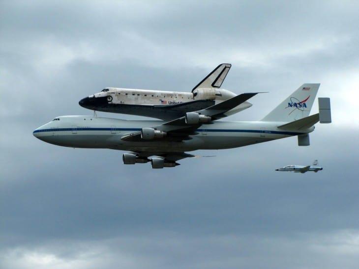 NASA Boeing 747 100 Shuttle Carrier Aircraft Space Shuttle Discovery NASA Northrop T 38 Talon