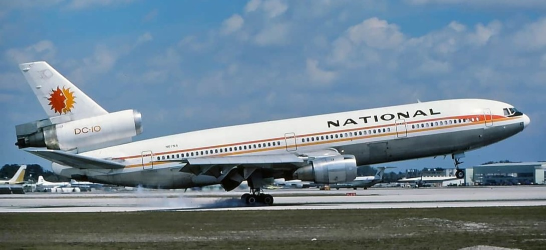 National DC 10 10 at MIA in 1978