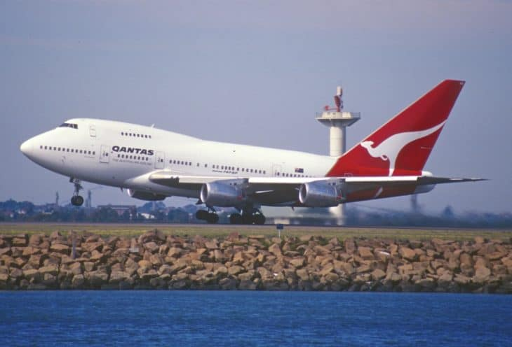 Qantas Boeing 747SP 38 at Sydney Airport in 1999