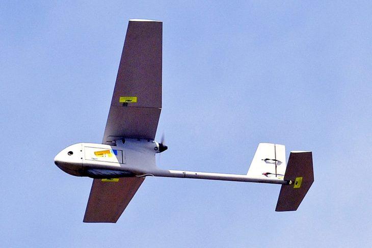 Raven UAV flying