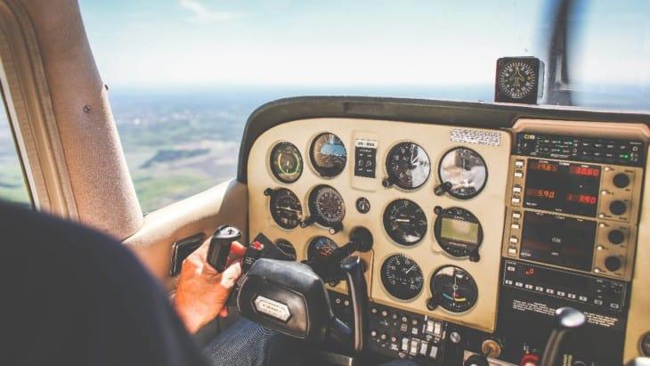 Small plane cockpit