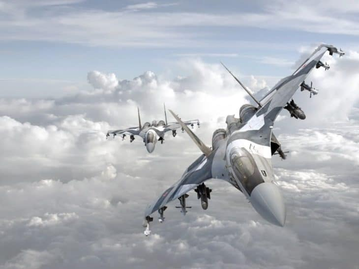Sukhoi Su 35 Flankers