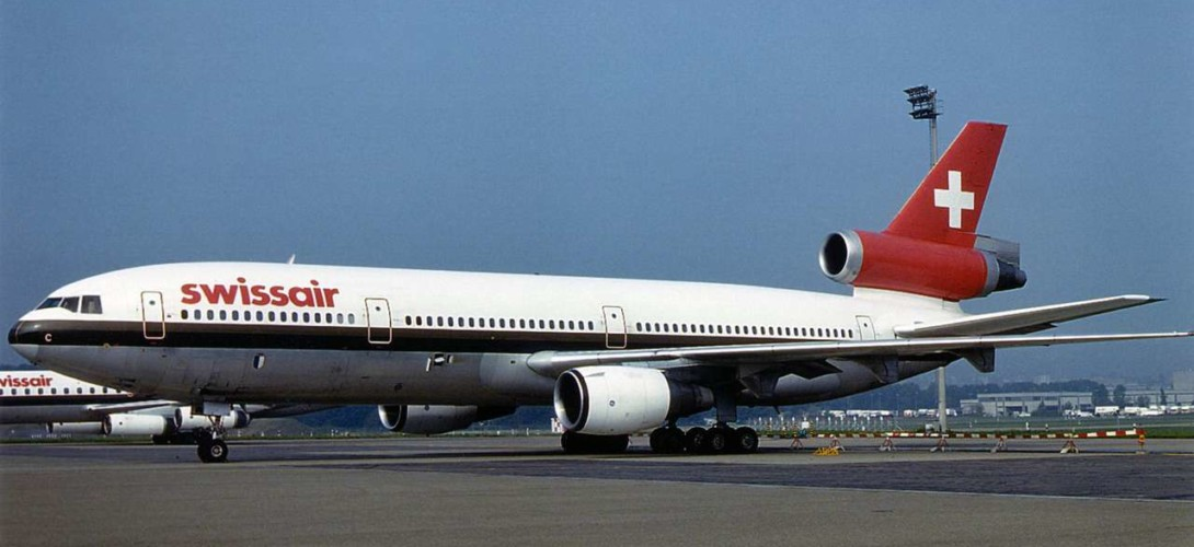 Swissair McDonnell Douglas DC 10 30 at ZRH in 1984